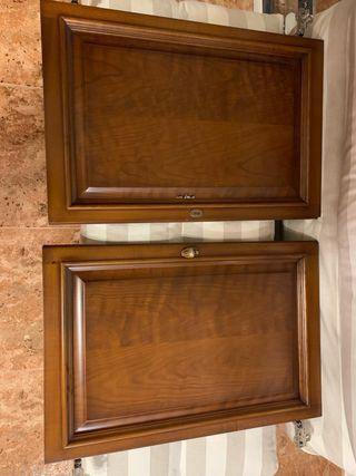 Puertas mueble de madera de cerezo