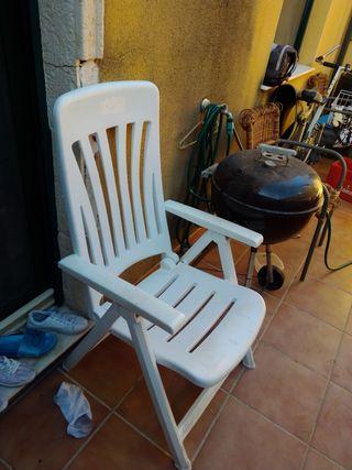 silla plegable platico