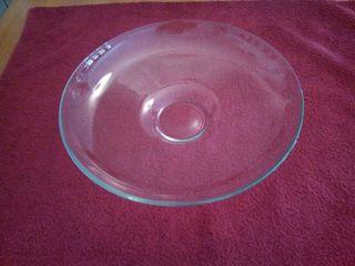 centro de mesa de cristal.