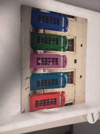 Lienzo cabinas Londres. cuadro
