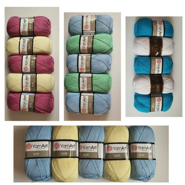 multi coloured dk yarn packs