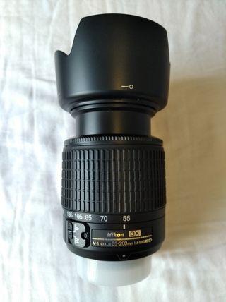 Lente objetivo Nikon 55-200