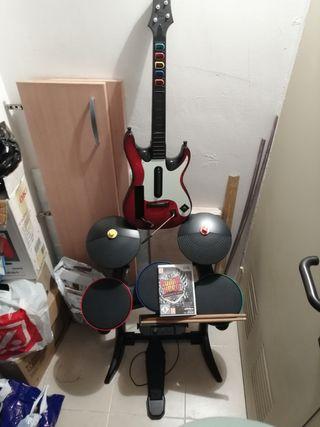 batería guitarra wii
