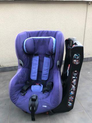 Silla Axiss coche Bebé confort gira 90 grados.