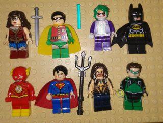 Figuras tipo lego Superheroes Liga de la justicia