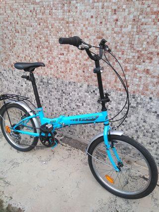 bicicleta plegable folding f.park 20 azul
