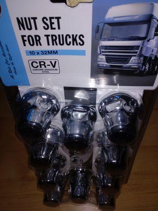 tapones llantas camion