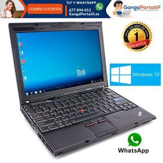 Portátil Lenovo X201, i5 / Wifi / Cam / Win 10 Gra