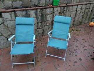 2 tumbonas de jardin reclinables
