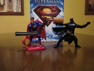 Pack figuras superman/Batman