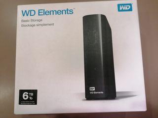 Disco duro externo 6TB wd elements
