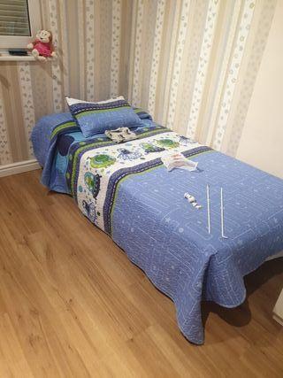 somier y colchon de cama de 90