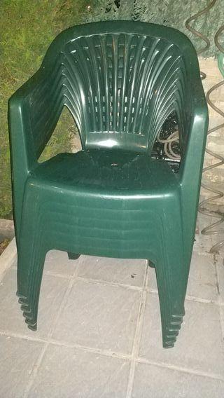 6 sillas de jardín
