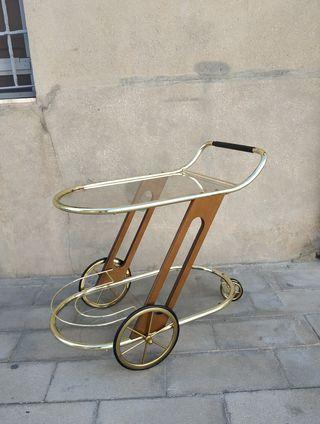 mesa camarera a ruedas diseño escandinavo vintage