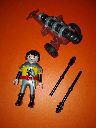 Playmobil artillero medieval cañón