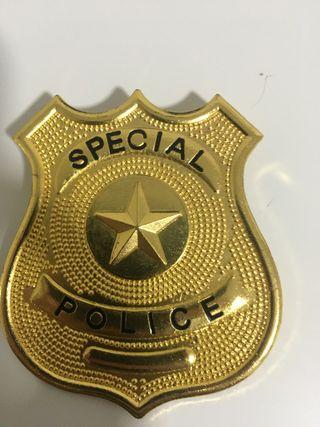 Placa de policía de juguete