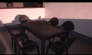 mesa jardín con 6 sillas