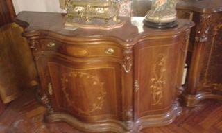 Mueble de entrada antiguo madera maciza