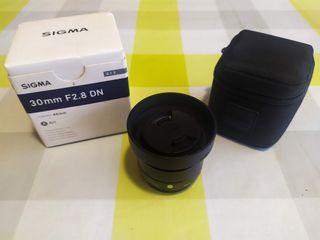 Objetivo Sigma Art 30mm 2.8 montura m4/3