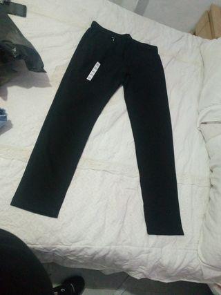 pantalón hombre de vestir negro talla 40