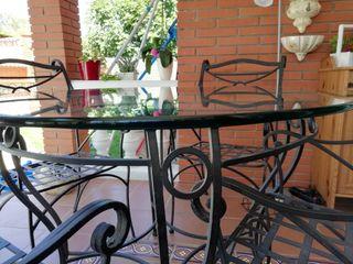 Juego mesa y sillas jardin