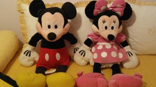 Peluches de Minnie y Mickey Mouse 75 cm