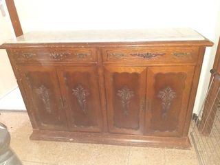 mueble antiguo mármol y madera