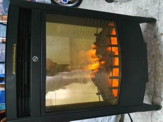 Estufa eléctrica efecto llama chimenea
