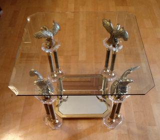 Mesa de centro con cristal biselado