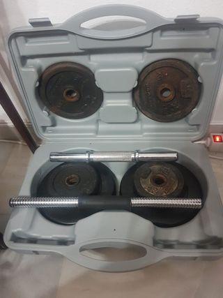 maletín de pesas
