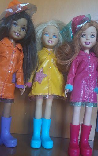 Muñecas Barbie Wee Friends Dias de Lluvia