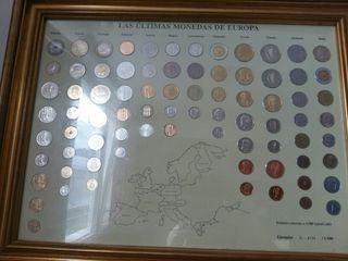 cuadro las ultimas monedas de europa