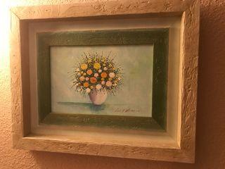 Cuadros flores rústicos