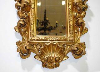 Antiguo espejo cornucopia rococo