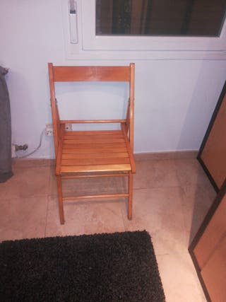 silla madera plegable
