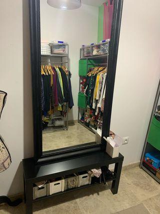 Espejo y banco tocador aparador vestidor