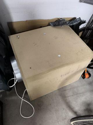 extractor de caja y filtro de carbono