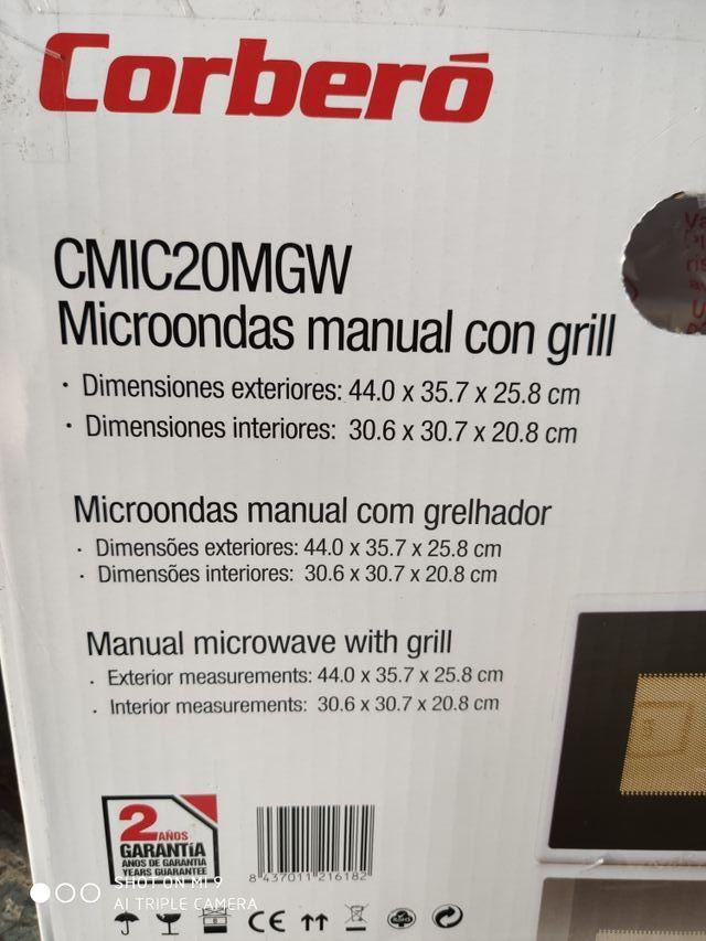 MICROONDAS CORBERO CON GRILL