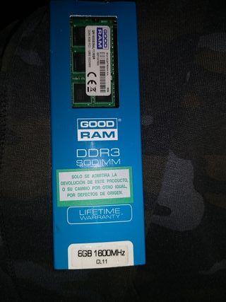 memoria RAM 8gb 1600MHz cl11