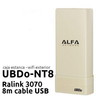 ALFA UBDo nT8 Punto Acceso Exterior WiFi 8 metros