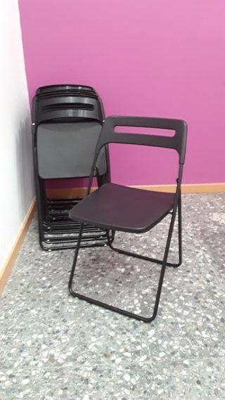Sillas plegables negras Ikea Nisse 25 unidades