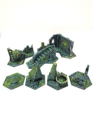 Escenografía 3D pintada shadespire warhammer