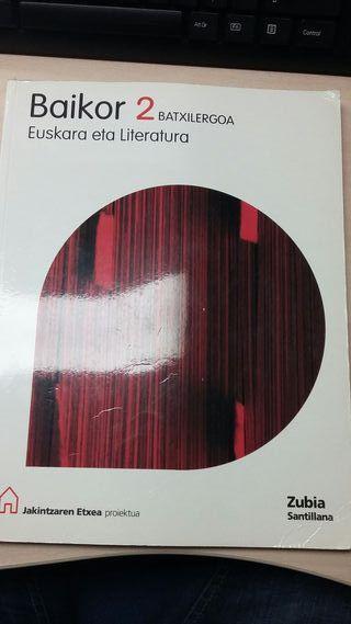Libro de euskera y literatura