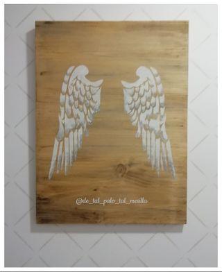 cuadro grande alas angel
