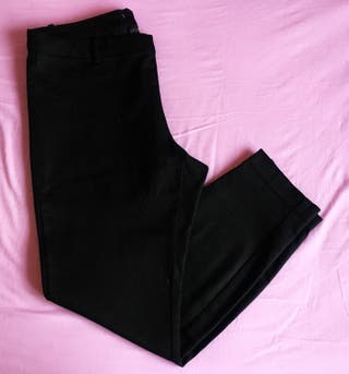 Pantalones H&M Negro Slim Traje 44 Mujer