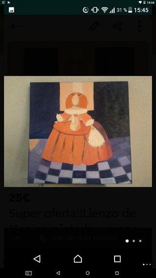 Cuadro pintura Meninas a estrenar