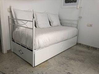Diván, Cama nido, sofá cama blanca NUEVA
