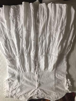 Vestido de zara blanco