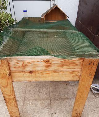 casita para conejos y cobayas de madera