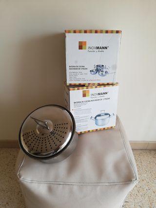 Batería de cocina Inox Mann 5 piezas